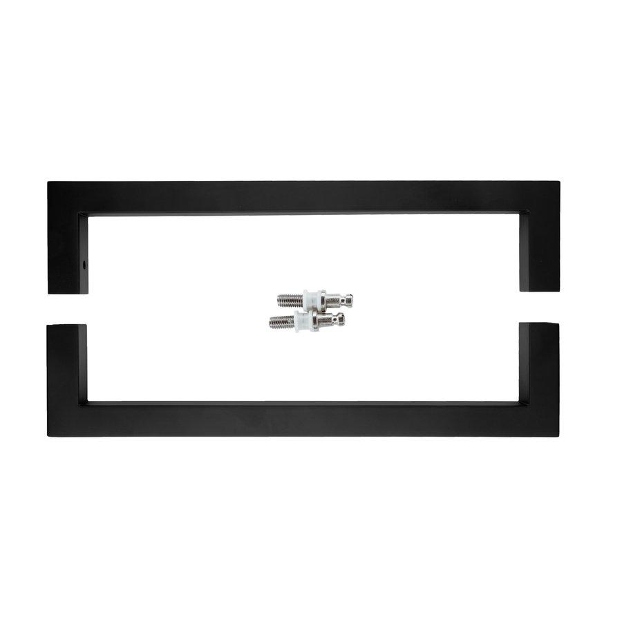 Paar Türgriffe Cubica 20/300 Paar für Glas schwarz
