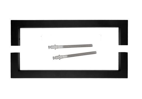 Poignée de porte Cubica 20/300 noir paire pour épaisseur de porte> 3 cm