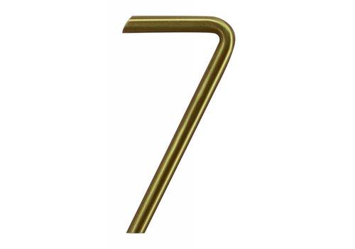Numéro de maison cuivre mat 7