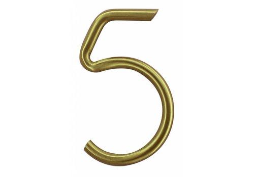 Numéro de maison cuivre mat 5