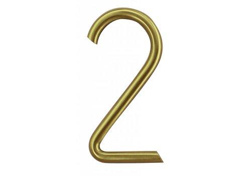 Huisnummer mat koper 2