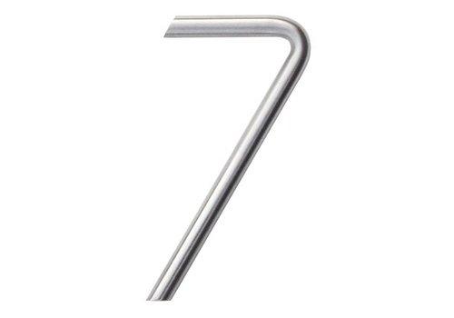 Numéro de maison 7 en acier inoxydable 130mm