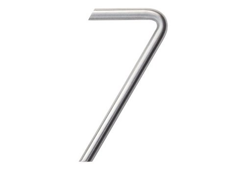 Stainless steel house number 7 round 130mm