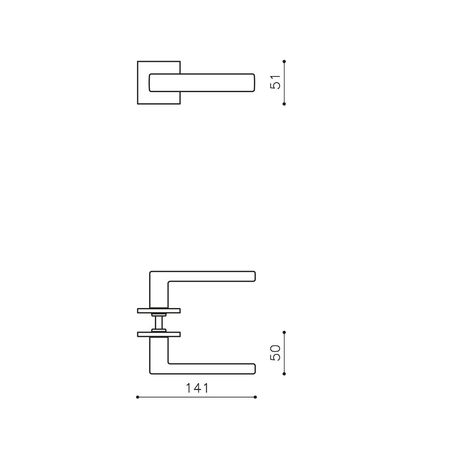 Olivari deurkruk Planet Q op rozet nikkel mat titaan PVD