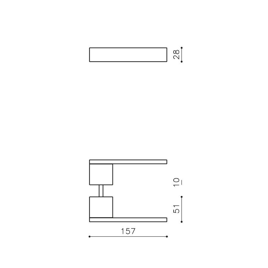Olivari deurkruk Total rvs mat titaan PVD