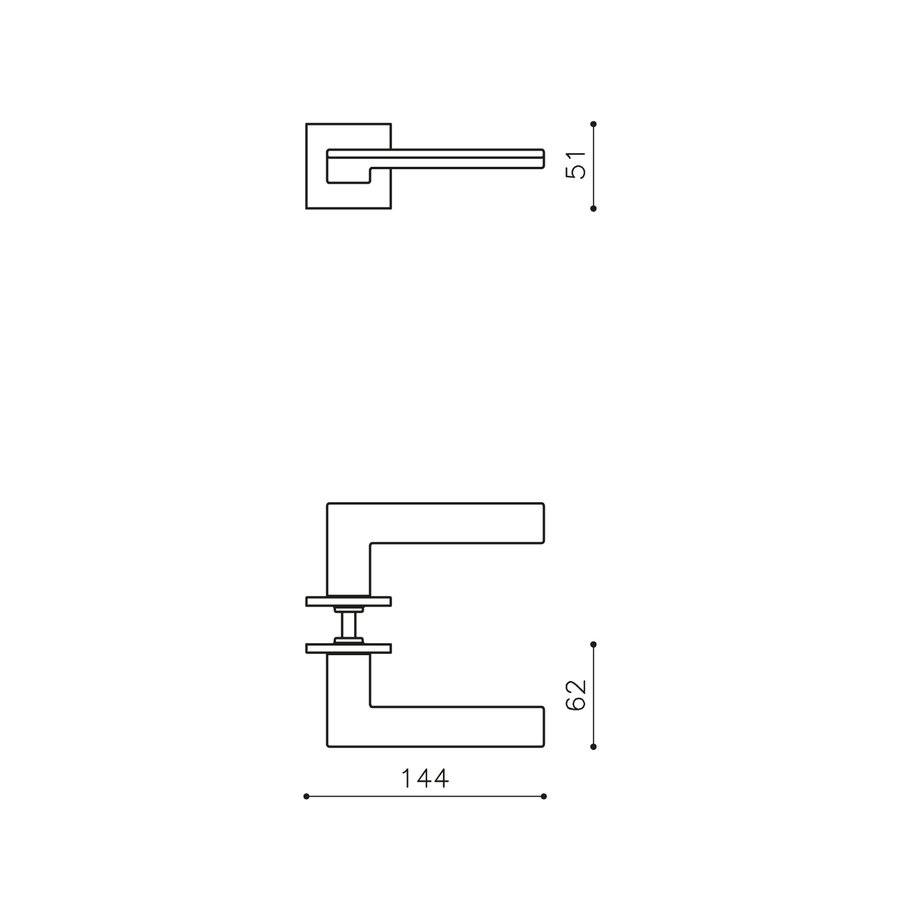 Olivari deurkruk Trend op rozet rvs mat titaan PVD