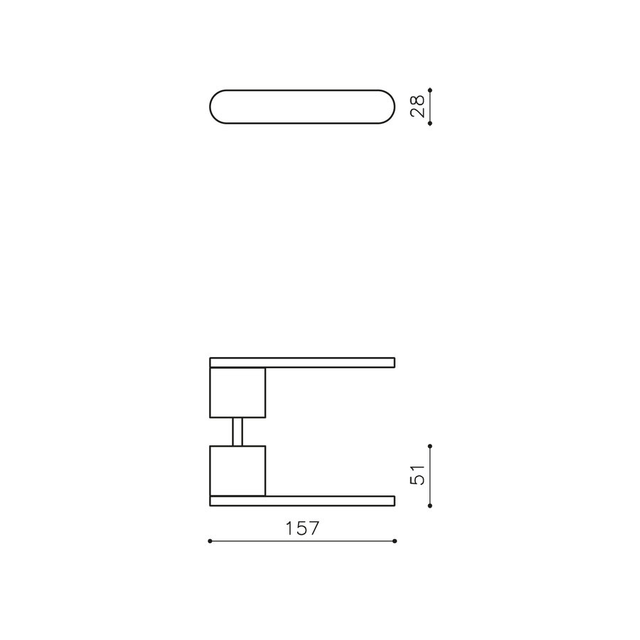 Poignée de porte Olivari Radial en acier inoxydable titane mat PVD