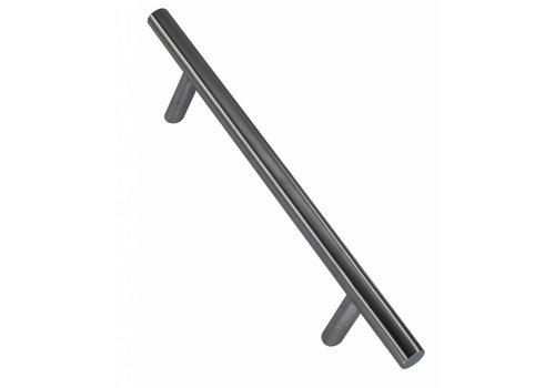 Poignée de porte en acier inoxydable ST 25/300/460 plus paire pour verre