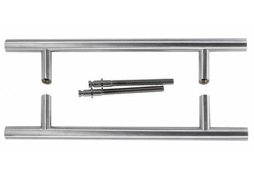 Deurgrepen ST 25/300/460 inox plus paar voor deurdikte > 3cm