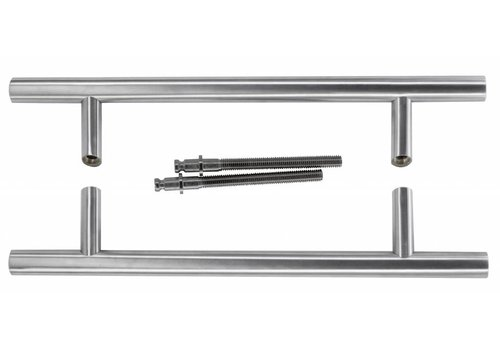 Door handles ST 25/300/460 stainless steel plus pair for door thickness> 3 cm