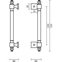 Einfacher Türgriff 40 Kupfer