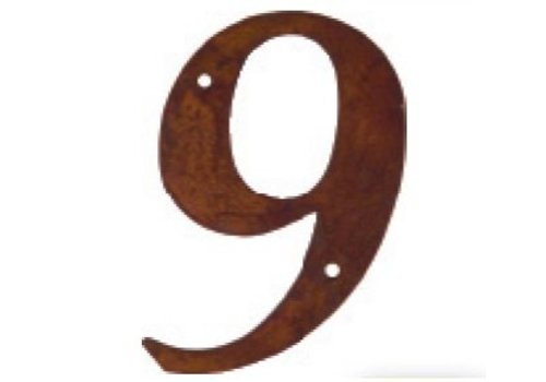 Numéro de maison rouille 9