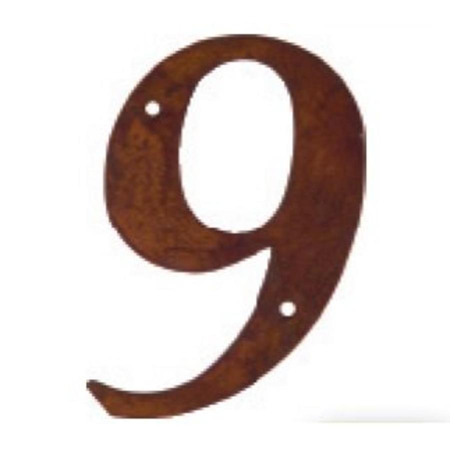 Huisnummer roest 9