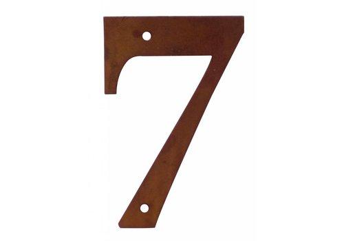 Numéro de maison rouille 7
