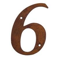 Huisnummer roest 6