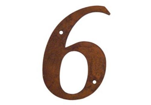 Numéro de maison rouille 6