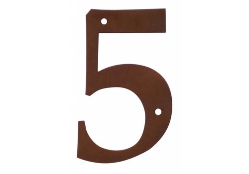 House number 5 rust