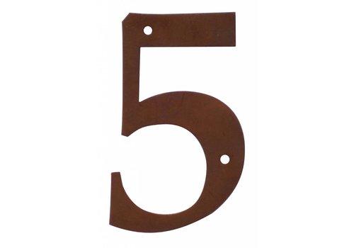 Numéro de maison rouille 5