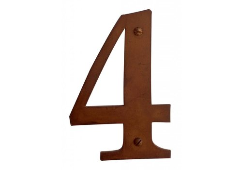 Numéro de maison rouille 4