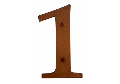 Numéro de maison Rouille 1