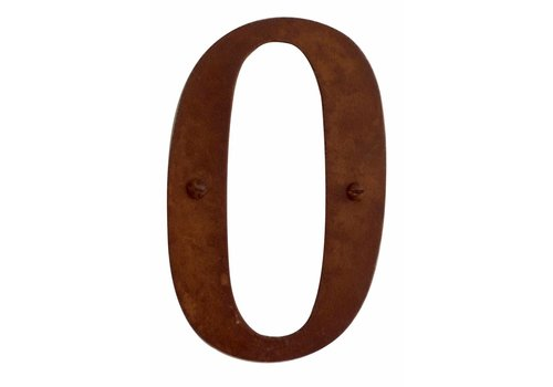 Numéro de maison rouille 0