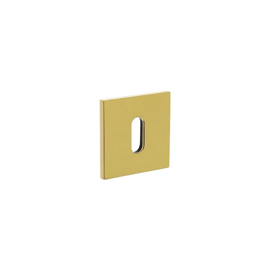 Olivari rosette square with keyhole brass titanium PVD