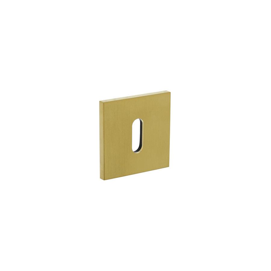 Olivari rosette square with keyhole brass matt titanium PVD