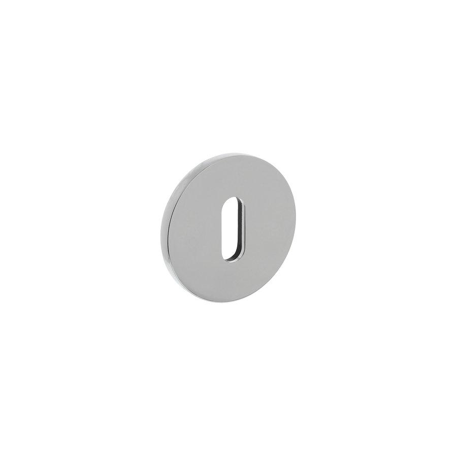 Rosace Olivari ronde avec trou de serrure chromé