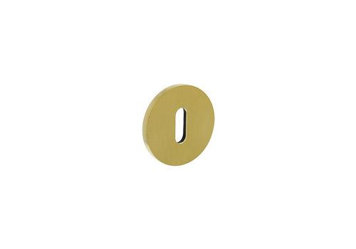 Olivari Rosette rund mit Schlüsselloch Messing matt Titan PVD