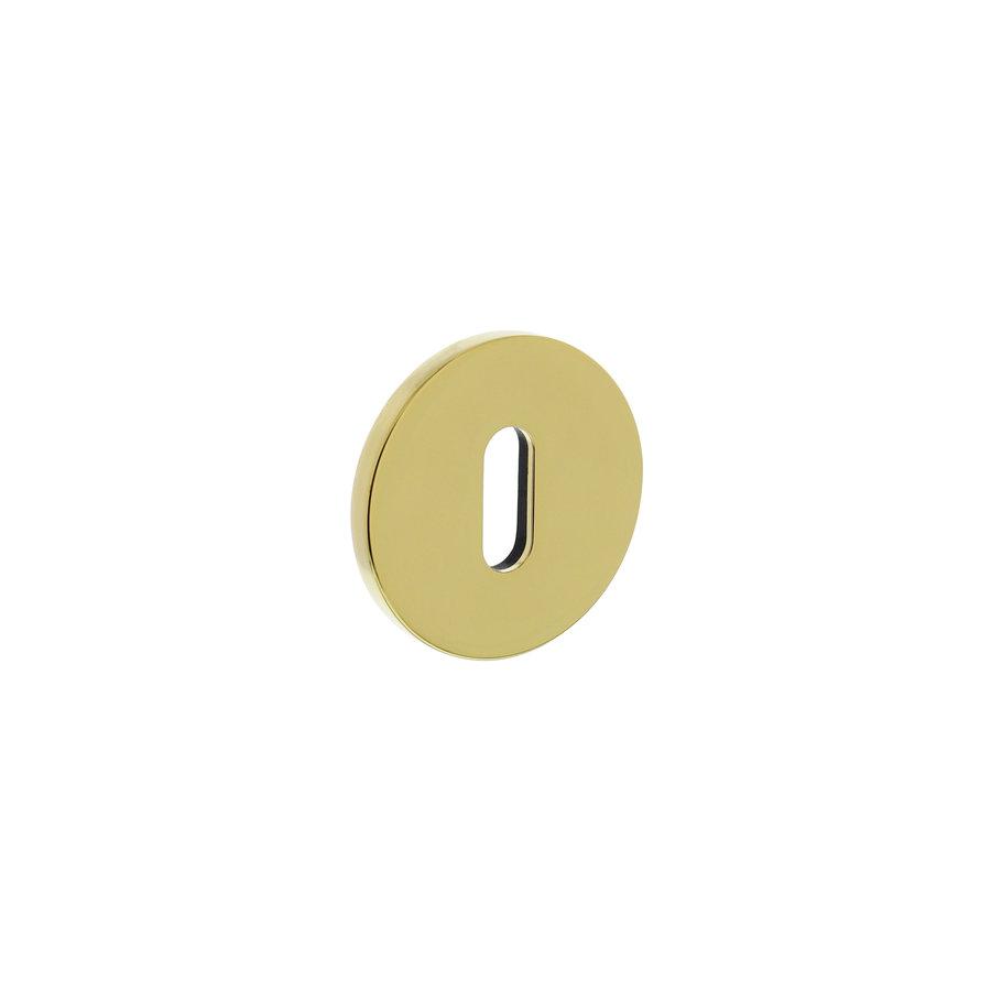 Olivari rosette round with keyhole brass titanium PVD