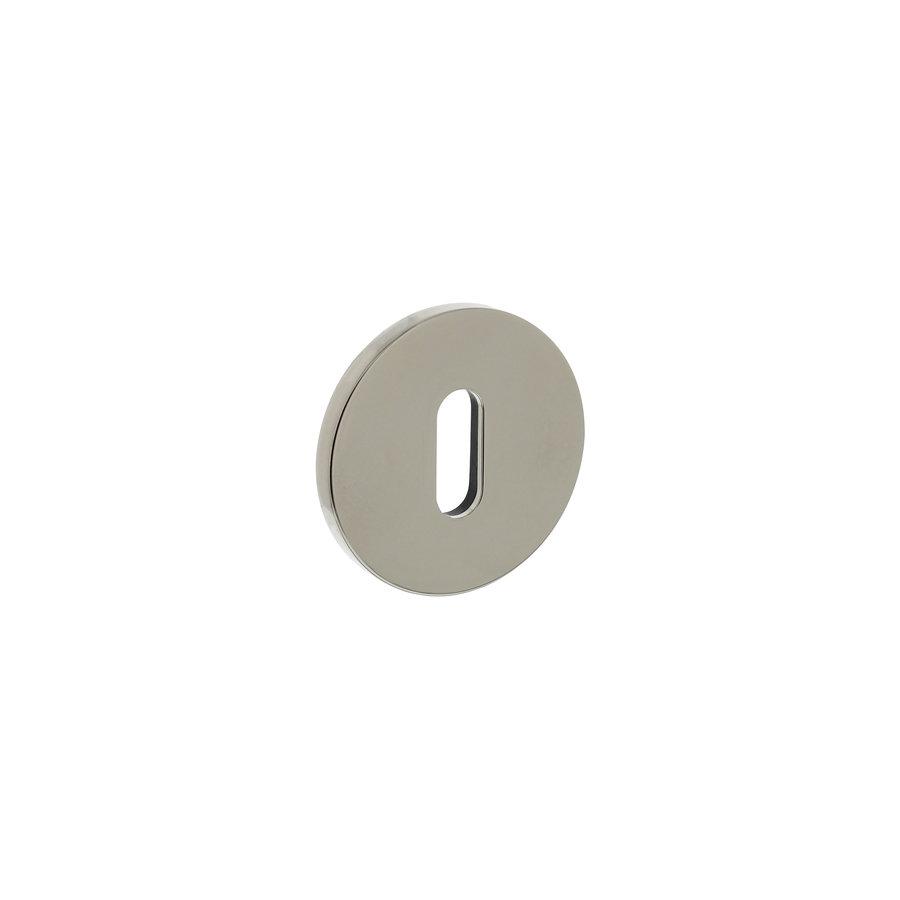 Olivari rozet rond met sleutelgat nikkel titaan PVD