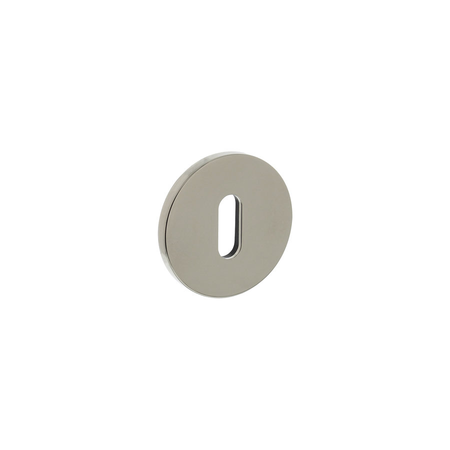 Rosace Olivari ronde avec trou de serrure nickel titane PVD