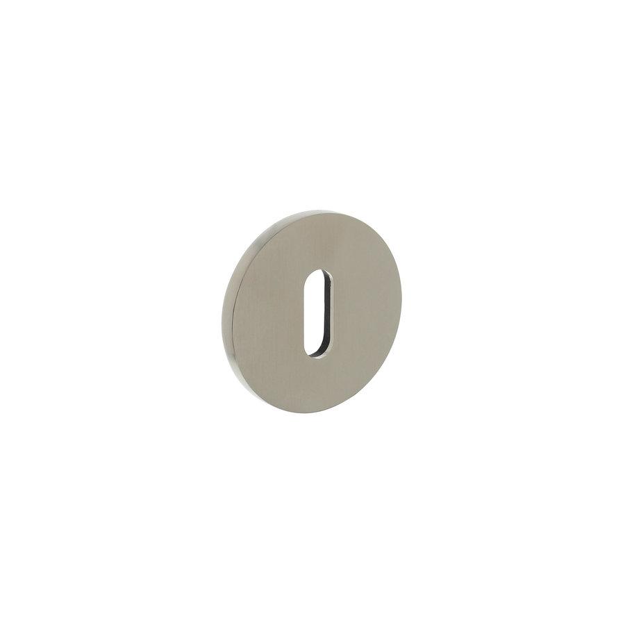 Olivari rosette round with keyhole nickel matt titanium PVD