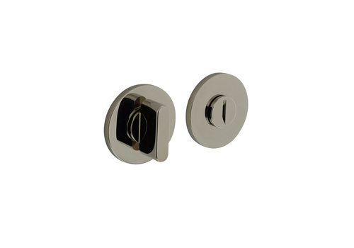 Olivari rozet toilet-/badkamersluiting rond nikkel titaan PVD