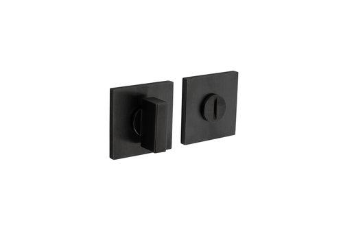 Fermeture rosette Olivari pour toilettes / salle de bains carrée anthracite titane mat PVD