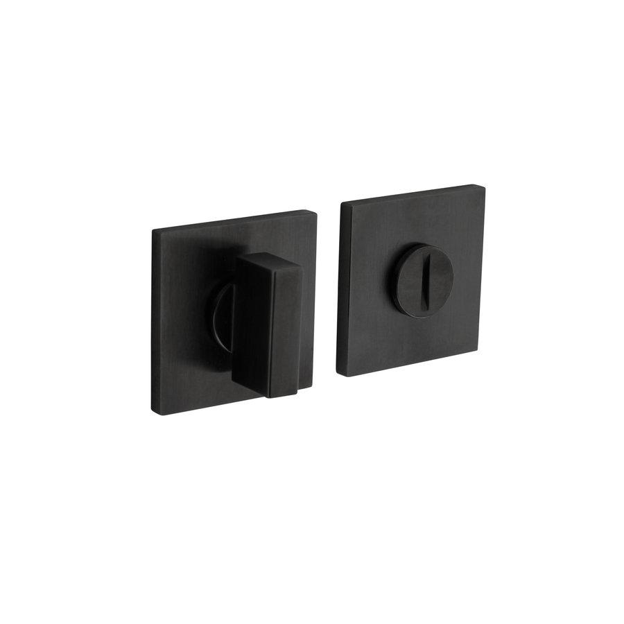 Olivari rozet toilet-/badkamersluiting vierkant antraciet mat titaan PVD