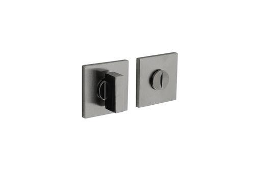 Olivari rosette toilet / bathroom closure square stainless steel matt titanium PVD