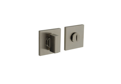 Olivari rozet toilet-/badkamersluiting vierkant nikkel mat titaan PVD