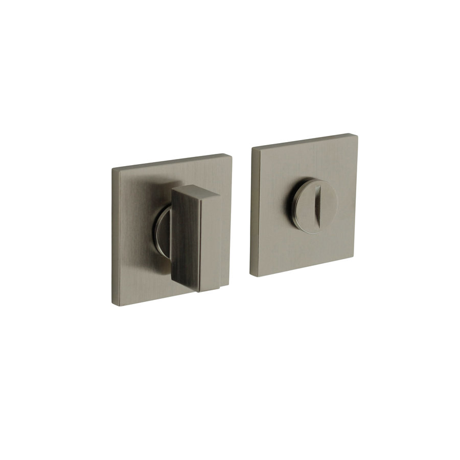 Olivari rosette toilet / bathroom closure square nickel matt titanium PVD