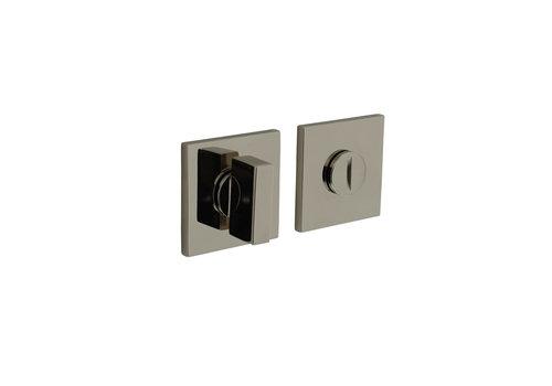 Fermeture rosette Olivari pour toilettes / salle de bains carrée nickel titane PVD