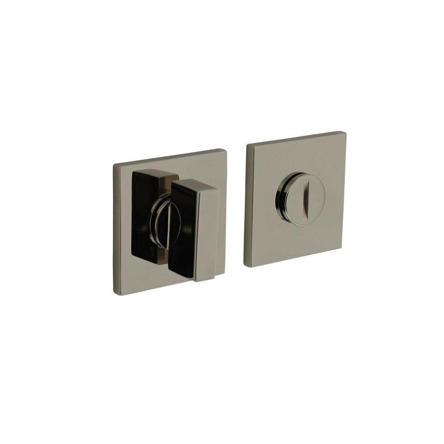 Olivari rosette toilet / bathroom closure square nickel titanium PVD