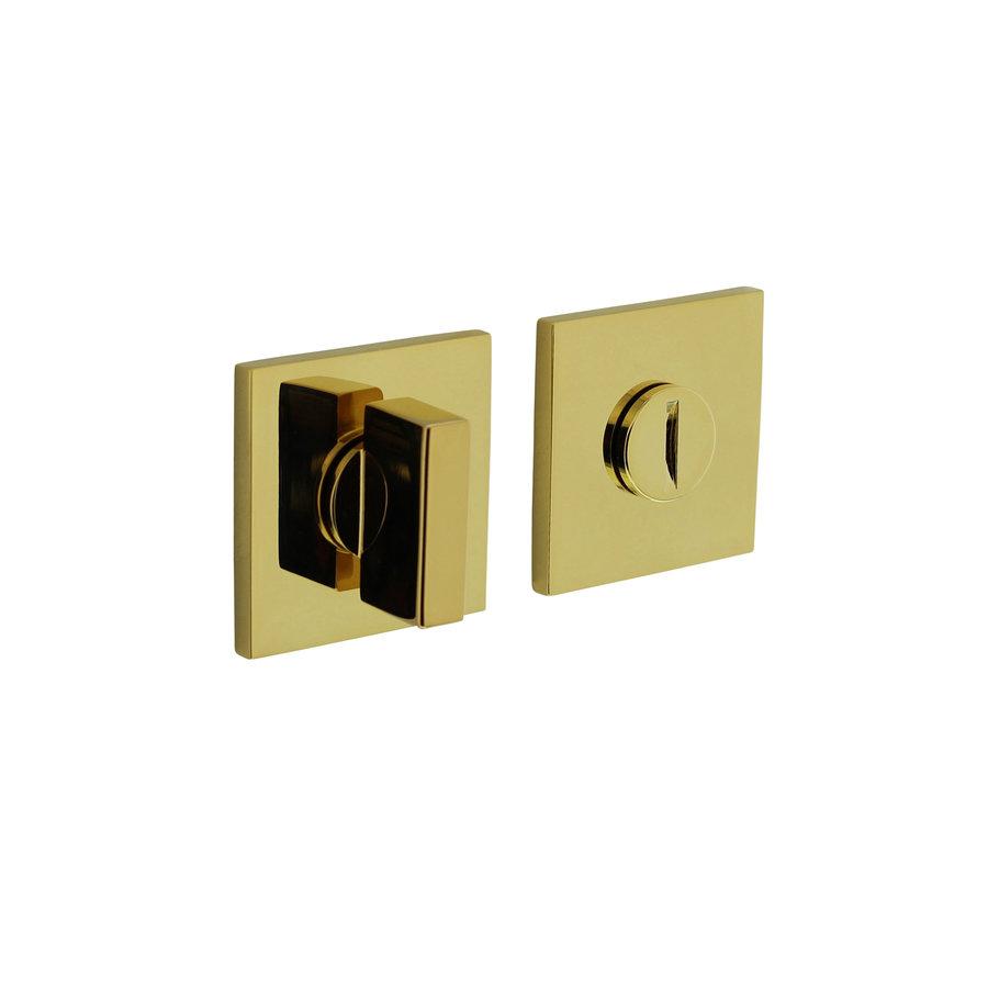 Fermeture rosette Olivari pour WC / salle de bains carrée en laiton titane PVD