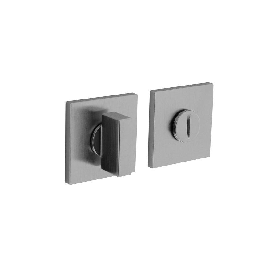 Olivari Rosette WC / Bad Verschluss quadratisch chrom matt