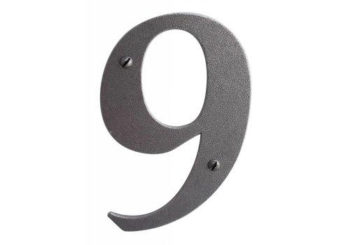 Huisnummer 9 ijzer