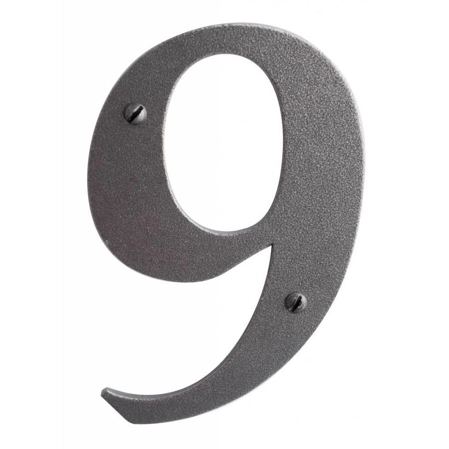 Huisnummer 9 ijzer 104mm