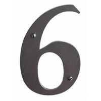Huisnummer ijzer 6