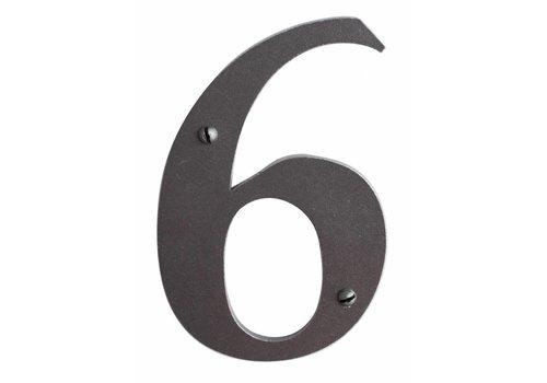 Huisnummer 6 ijzer