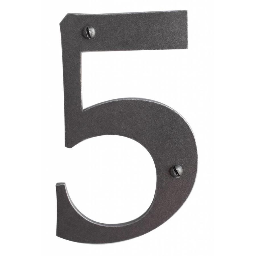 Huisnummer 5 ijzer 104mm