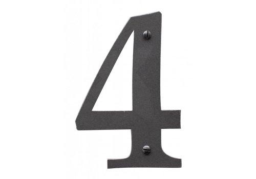 Huisnummer 4 ijzer