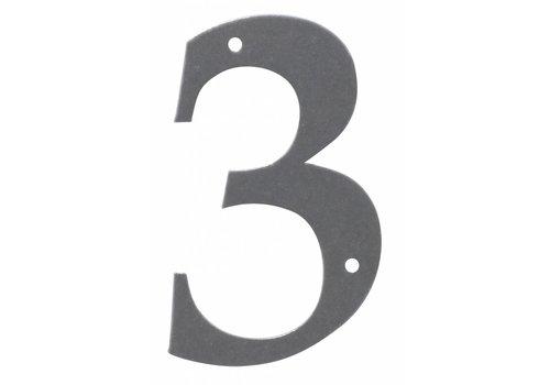 Huisnummer 3 ijzer